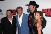 Danny Trejo, Mel Gibson, Robert Rodriguez, Alexa Vega — Stock Photo