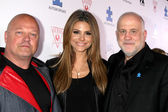 Michael Chiklis, Maria Menounos, Chuck Saftler — Stock Photo