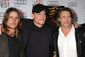 Woody Harrelson, Brett Harrelson, guests — Stock Photo