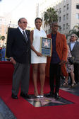 Clive Davis, Jennifer Hudson, Raphael Saadiq — Stock Photo