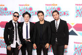 Fall Out Boy Group, Andy Hurley, Patrick Stump, Pete Wentz, Joe Trohman — Stock Photo