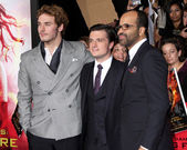 Sam Claflin, Josh Hutcherson, Jeffrey Wright — Stock Photo