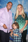 Hank Baskett, Henry Baskett, Kendra Wilkinson — Stock Photo