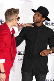 Justin Bieber, Usher — Stock Photo