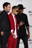 Scooter Braun, Justin Bieber, Usher — Stock Photo