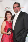 Kate Flannery, Chris Haston — Stock Photo