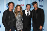 Keith Urban, Jennifer Lopez, Ryan Seacrest, Harry Connick Jr. — Stock Photo
