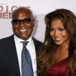 LA Reid & Janet Jackson — Stock Photo