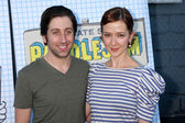 Simon Helberg, wife Jocelyn Towne — Stock Photo