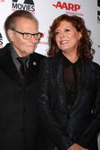 Larry King, Susan Sarandon — Stock Photo