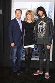 Steve Fenton, Leeza Gibbons, her son, Troy Meadows — Stock Photo