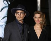 Johnny Depp, Amber Heard — Stock Photo