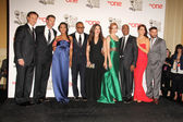 Scandal Cast - Tony Goldwyn, Scott Foley, Kerry Washington, Columbus Short, Katie Lowes, Darby Stanchfield, Joe Morton, Bellamy Young, Guillermo Diaz — Stock Photo