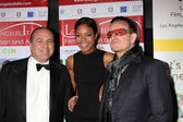 Carlo Bocchi, Naomie Harris, Bono — Stock Photo