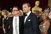 Bono, Leonardo DiCaprio — Stock Photo