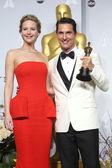 Jennifer Lawrence, Matthew McConaughey — Stock Photo