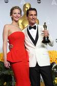 Jennifer Lawrence, Matthew McConaughey — Foto de Stock
