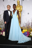Christoph Waltz, Lupita Nyong'o — Stock Photo