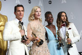 Matthew McConaughey, Cate Blanchett, Lupita Nyong'o, Jared Leto — Stock Photo