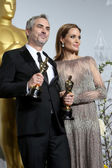 Alfonso Cuaron, Angelina Jolie — Stock Photo