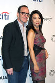 Clark Gregg, Ming-Na Wen — Stock Photo