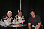 Brett Davern, Al Unser Jr, Cole Hauser — Stock Photo