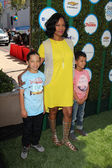 Garcelle Beauvais, sons — Stock Photo