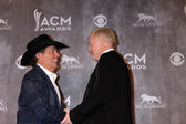 George Strait, Jerry Jones — Stock Photo