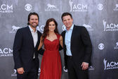 Joshua Morrow, Cassadee Pope, Steve Burton — Stock Photo
