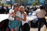 Cole Hauser, son, Cynthia Daniel — Stock Photo