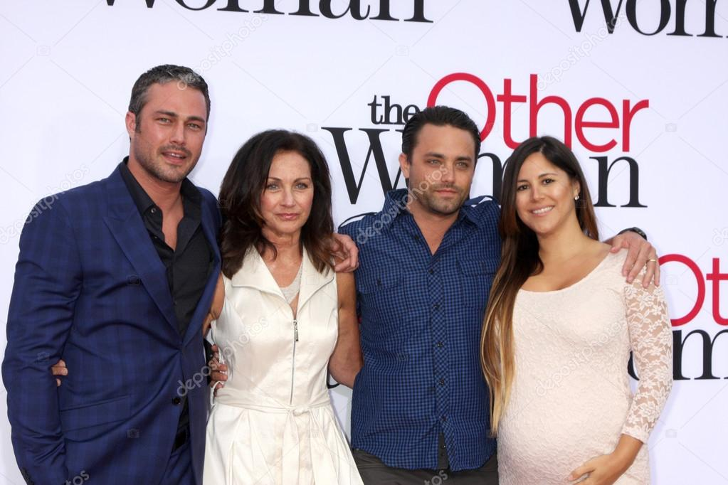 Taylor Kinney, mother Pamela Heisler, and Brother and ...