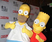 Homer Simpson, Bart Simpson — Stock Photo