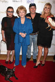 Carrie Fisher, Debbie Reynolds, Todd Fisher, Catherine Hickland Fisher — Stock Photo