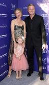 Rebecca Gayheart-Dane, Billie Beatrice Dane, Eric Dane — Stock Photo