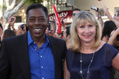 Ernie Hudson, wife — Stock Photo