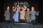 Linkin Park, Mike Shinoda, Rob Bourdon, Joe Hahn, Brad Delson, Dave Farrell, Chester Bennington — Stock Photo
