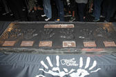 Linkin Park handprints — Stock Photo