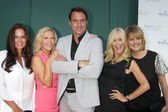 Tanya Memme, Kym Douglas, Mark Steines, Sophia Uliano, Cristina Ferrare — Stock Photo