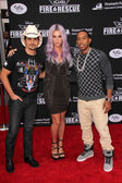 Brad Paisley, Kesha, Ludacris — Stock Photo