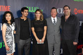 Jadyn Wong, Elyes Gabel, Katharine McPhee, Robert Patrick, Walter O'Brien — Stock Photo