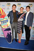 Ansel Elgort, Shailene Woodley, Nat Wolff — Stock Photo