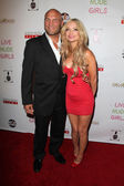 Randy Couture, Mindy Robinson — Stockfoto