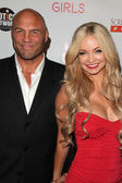 Randy Couture, Mindy Robinson — Stock Photo