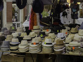 Hats in market — Foto Stock