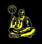 человек-баскетболист — Cтоковый вектор