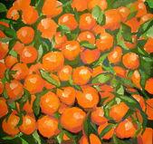 Malarstwo mandarynki — Zdjęcie stockowe