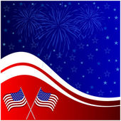Fourth of july banner — Stock Vector