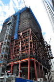 Skyscrapper under construction — Stock Photo