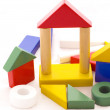 Preschool construction wood game — Stock Photo