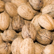 Basket of walnuts — Stock Photo